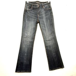 DECREE 11x31 blue green boot cut stretch denim